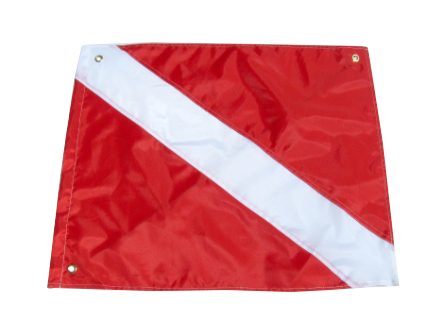 Dive flags help protect you.