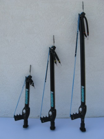 There are 3 spearguns in the Bandito Standard Series speargun line up.
